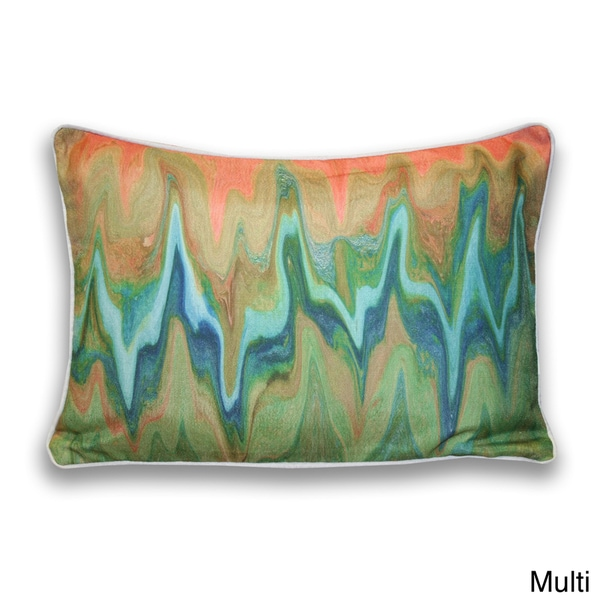 12-Inch x 20-Inch Rider Watercolor Marbled Pillow