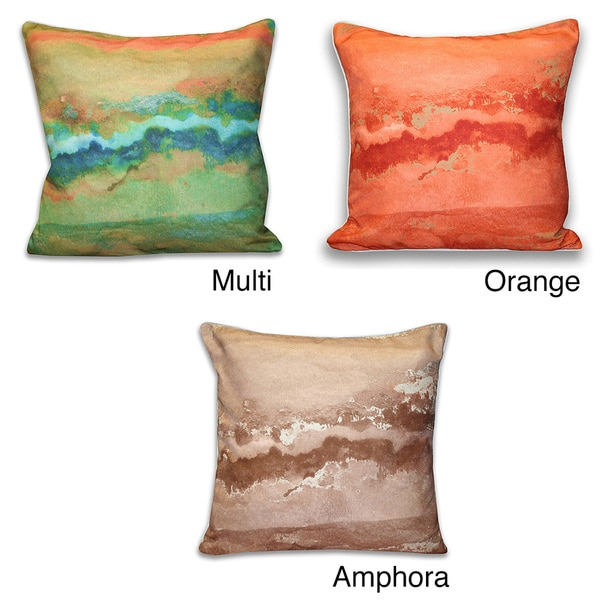 20-Inch x 20-Inch Rider Watercolor Marbled Pillow