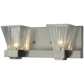 Iluna Brushed Nickel 2-light Vanity Light