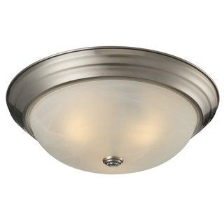Athena 3-light Brushed Nickel Flush Mount