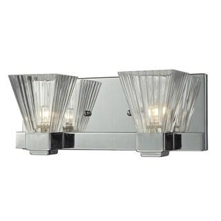Iluna Chrome 2-light Wall Vanity Fixture
