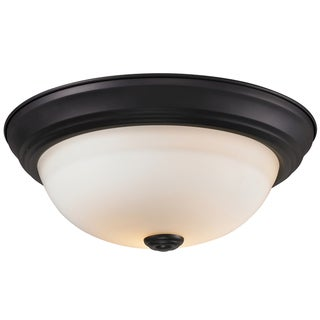 Athena Bronze One-Light Flush-Mount Ceiling Lamp