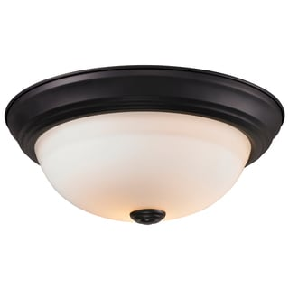 Athena Bronze Finish 2-light Flush Mount