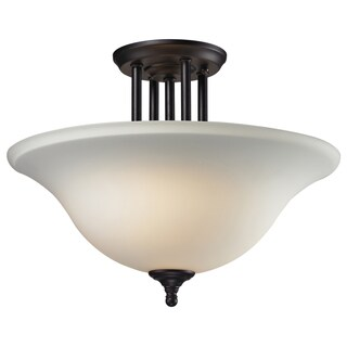 Athena Bronze Three-Light Semi-Flush Indoor Mount