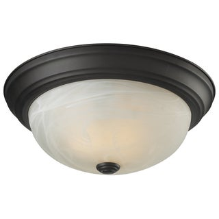Athena 2-light Bronze Finish Flush Mount