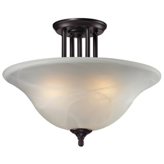 Athena Bronze 3-light Semi-Flush Mount