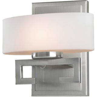 Cetynia Brushed Nickel 1-Light Square Vanity Fixture