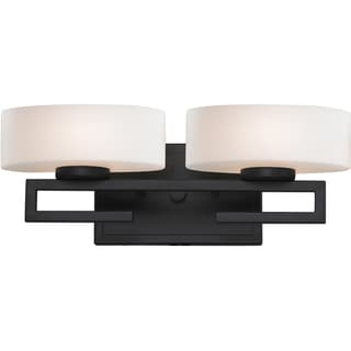 Cetynia Painted Bronze 2-Light Vanity Fixture