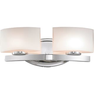 Galati Chrome 2-Light Square Vanity Fixtue