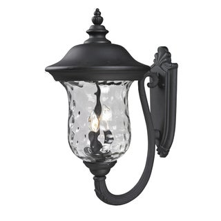 Armstrong Black 3-light Outdoor Wall Fixture