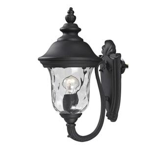 Armstrong 1-light Black Outdoor Wall Light