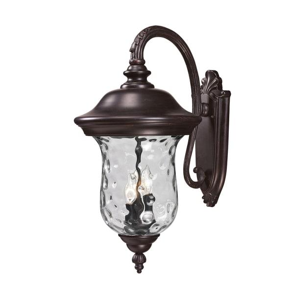 Armstrong 3-light Bronze Outdoor Wall Light
