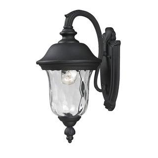 Armstrong 2-light Black Outdoor Wall Mount Light