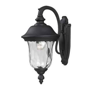 Outdoor lighting for less clearance liquidation overstock armstrong 2 light black outdoor wall mount light workwithnaturefo