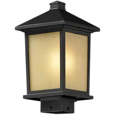 Holbrook Oil Rubbed Bronze Outdoor Post Light Fixture