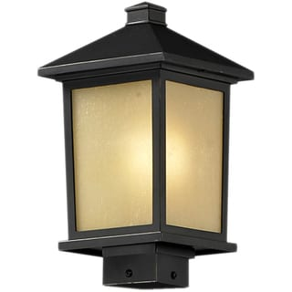 Holbrook Oil Rubbed Bronze Outdoor Post Light Fixture