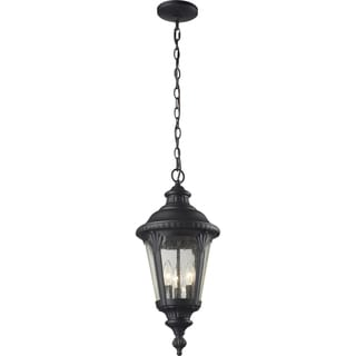 Medow Sand Black Outdoor Chain Light Fixture