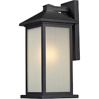 Vienna Black Outdoor Wall Mount Light Fixture