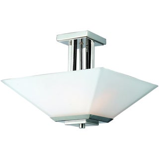 Affinia 3-Light Chrome Semi-Flush Mount Fixture