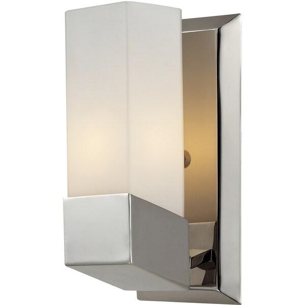 Zen 1 light chrome wall sconce free shipping today for Zen bathroom lighting