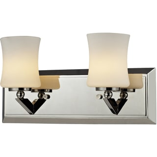 Elite Chrome Two Light Vanity Fixture Free Shipping Today 15277775