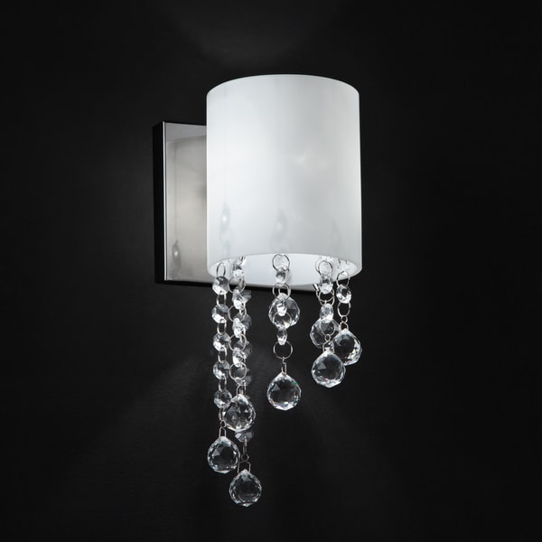 Shop Jewel Chrome OneLight Wall Sconce On Sale Free Shipping - Single light bathroom sconce