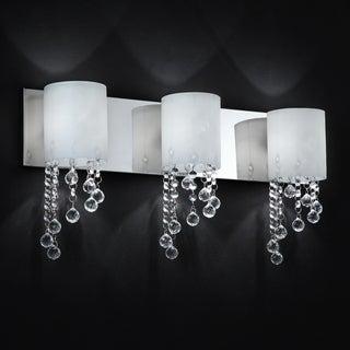 Chrome Crystal 3 Light Wall Sconce Bathroom Vanity Fixture 14123171 Shopping