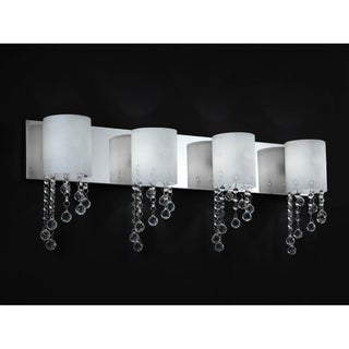 Jewel Chrome Four-Light Vanity Fixture
