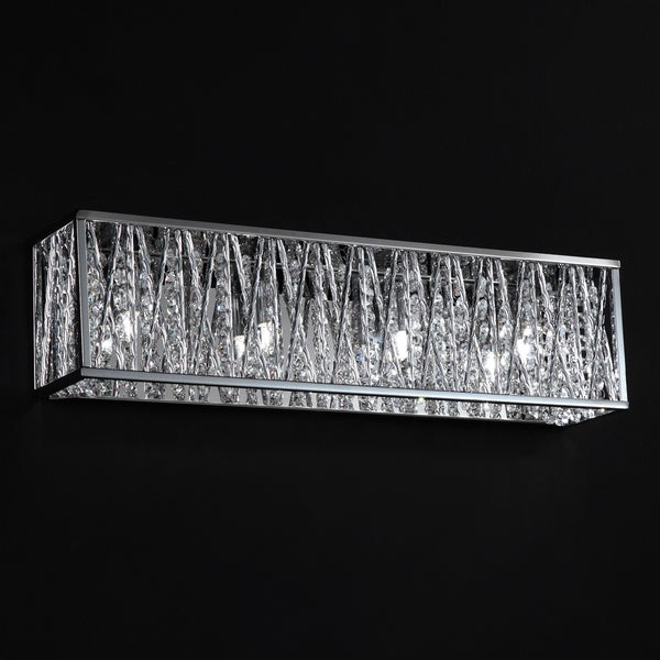 Terra Chrome Four-Light Vanity Fixture