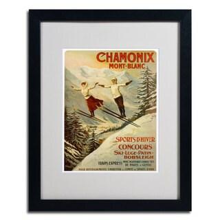 F. Tamanjo 'Chamonix Mont Blanc' Framed Matted Vintage-Style Art