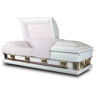 Star Legacy's White Embrace 18-gauge Steel Casket