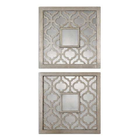 Uttermost Sorbolo Squares Decorative Mirror (Set of 2) - Silver - 20x20x0.75