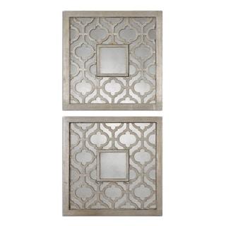 Uttermost Sorbolo Squares Decorative Mirror (Set of 2) - Silver - 20x20x0.75