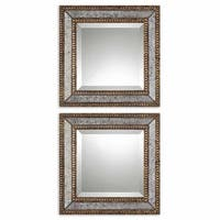 Uttermost 'Norlina Squares' Antique Mirror (Set of 2) - Grey/Gold