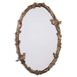 Uttermost 'Paza' Oval Vine Gold Mirror