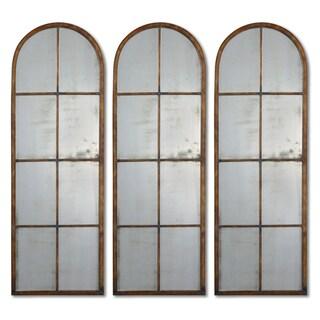 Uttermost 'Amiel' Arched Brown Mirror (One Mirror)