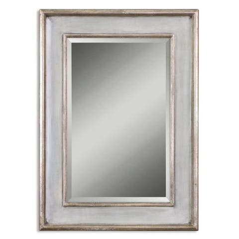 Uttermost 'Ogden' Antique Light Blue Mirror - Silver/Blue - 26.625x36.625x2.25
