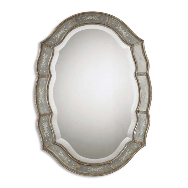 Uttermost 'Fifi' Etched Antique Gold Mirror