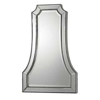 Uttermost 'Cattaneo' Silver Beaded Mirror