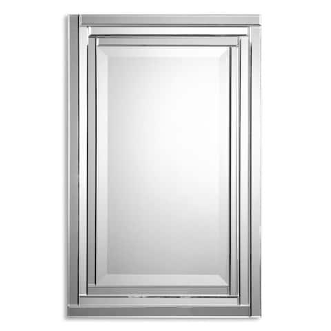 Uttermost 'Alanna' Frameless Vanity Mirror - Silver - 22x34x2