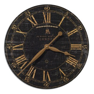 Uttermost Bond Street 18-inch Black Wall Clock