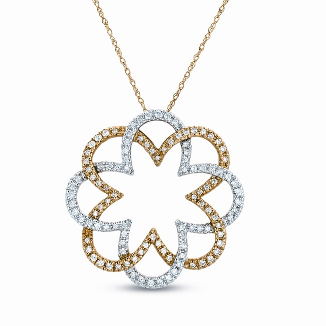14k Two-tone Gold 1ct TDW Diamond Fashion Necklace (G-H, I1)