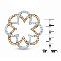 14k Two-tone Gold 1ct TDW Diamond Fashion Necklace (G-H, I1) - Thumbnail 2