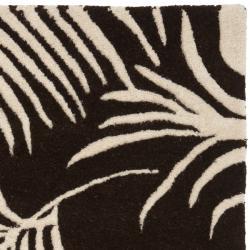 Safavieh Handmade Soho Fern Brown New Zealand Wool Rug (2' x 3') - Thumbnail 1