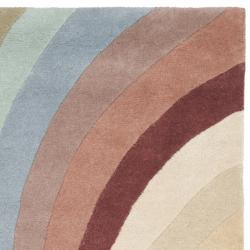 Safavieh Handmade Soho Vortex Modern Abstract Wool Runner Rug (2' 6 x 8') - Thumbnail 1