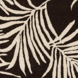 Safavieh Handmade Soho Fern Brown New Zealand Wool Rug (2' x 3') - Thumbnail 2