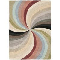 Safavieh Handmade Soho Vortex Modern Abstract Wool Rug - 2' x 3'