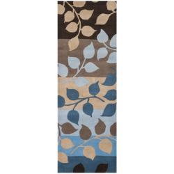 Safavieh Handmade Soho Garden Brown New Zealand Wool Rug (2'6 x 8')