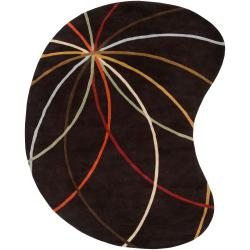 Hand-tufted Contemporary Appert Abstract Kidney Wool Rug (6' x 9')