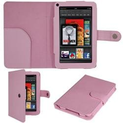 SKQUE Amazon Kindle Fire Button Leather Case/ Screen Protector
